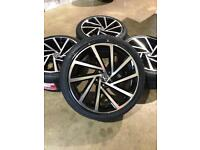 "Brand new set of 18"" alloy wheels and tyres Vw Audi Seat"