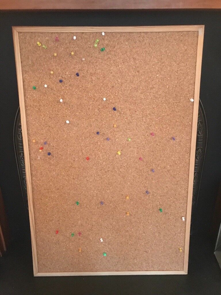 SOLD Pinboard 90cm x 60cm with pins