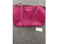 Genuine leather Ralph Lauren handbag excellent condition used once for a wedding