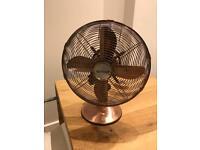 """Rose gold/copper 12"""" fan"""