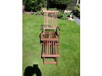 Hard wood steamer relaxer chair