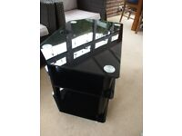 Glass Black TV Table / Stand
