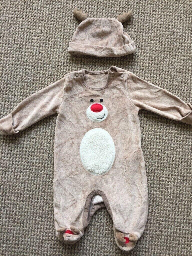 Newborn reindeer costume/sleepsuit