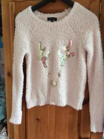 New look xmas jumper size 8