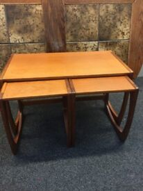 Nest of three wooden tables beatiful condition