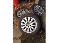 Mercedes c class wheels with tyres 17 inch 205/55/17