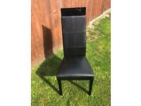 6 HIGH BACK DINING CHAIRS , BLACK HIGH GLOSS from NEXT HOME