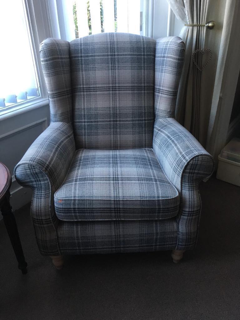 Next Sherlock Armchair In Versatile Nevis Check In Jarrow Tyne And Wear Gumtree