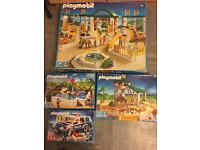 Playmobil large lot bundle toys boxed and Loose zoo hospital and plane etc