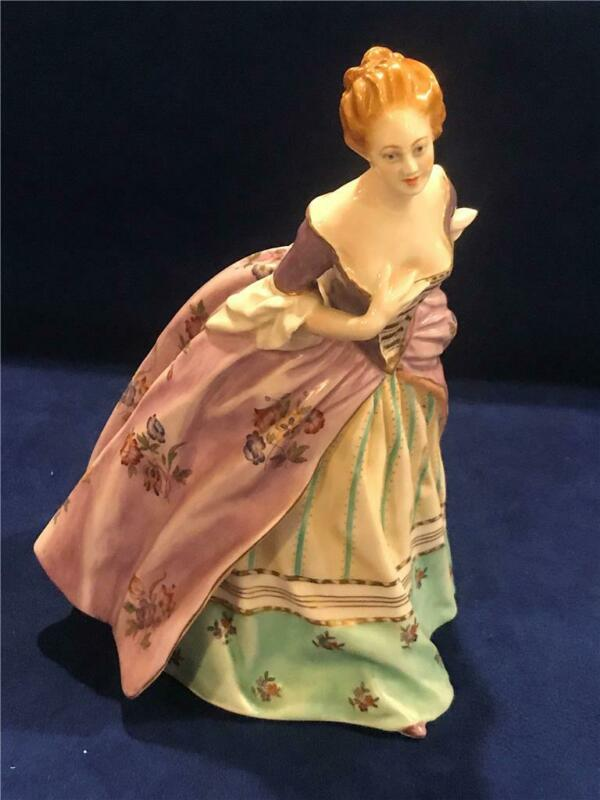 "Beautiful Capodimonte Dresden Ginori 9 1/2""  LADY DANCER FIGURINE - NICE!"