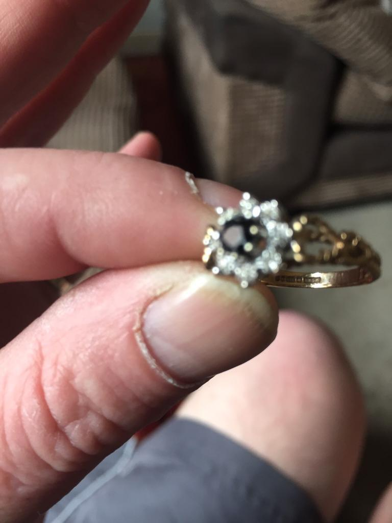 Ladies real sapphire and diamond ring size L   in Coventry, West ...