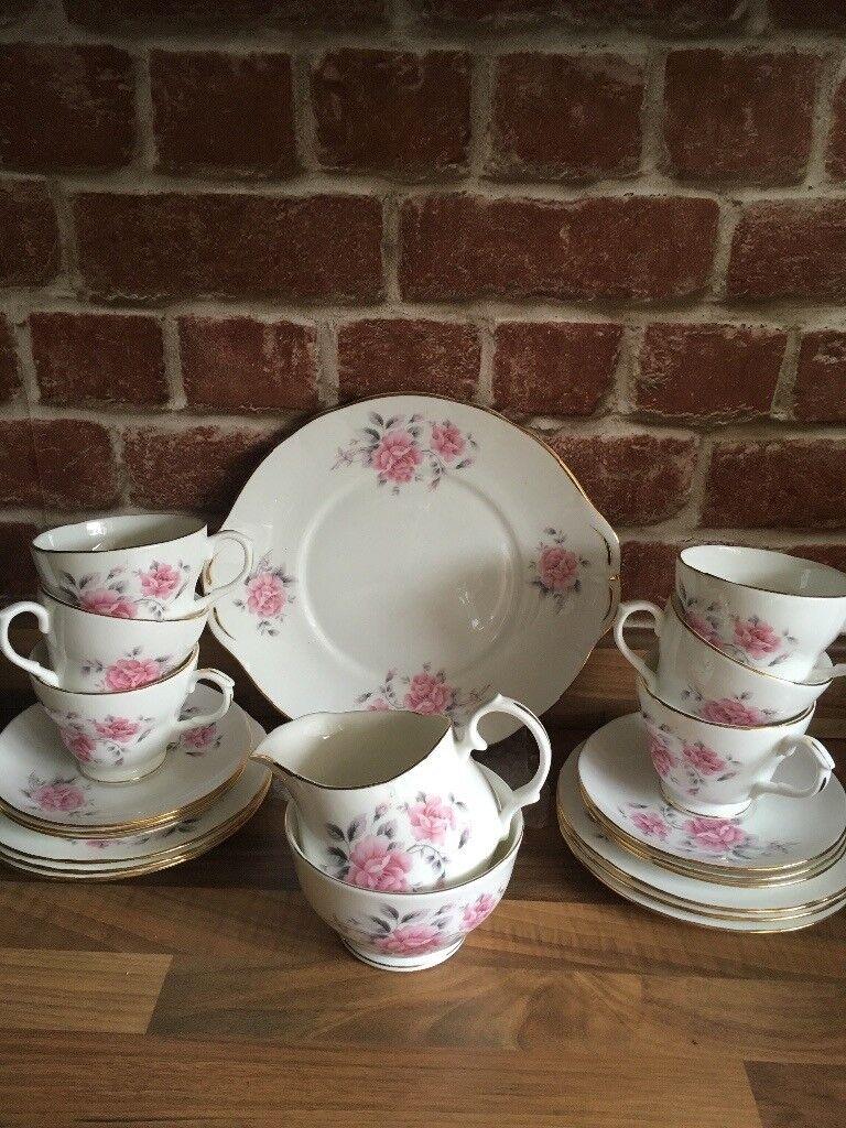 Vintage Duchess Pink Rose Tea Set