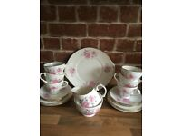 Vintage Duchess Pink Rose Tea Set