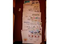G.B. Large First day cover stamp collection. FDC