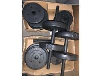 Opti Vinyl 30kg Dumbell and Barbell set