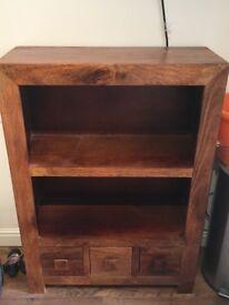 Dekota Wooden Bookshelf Unit