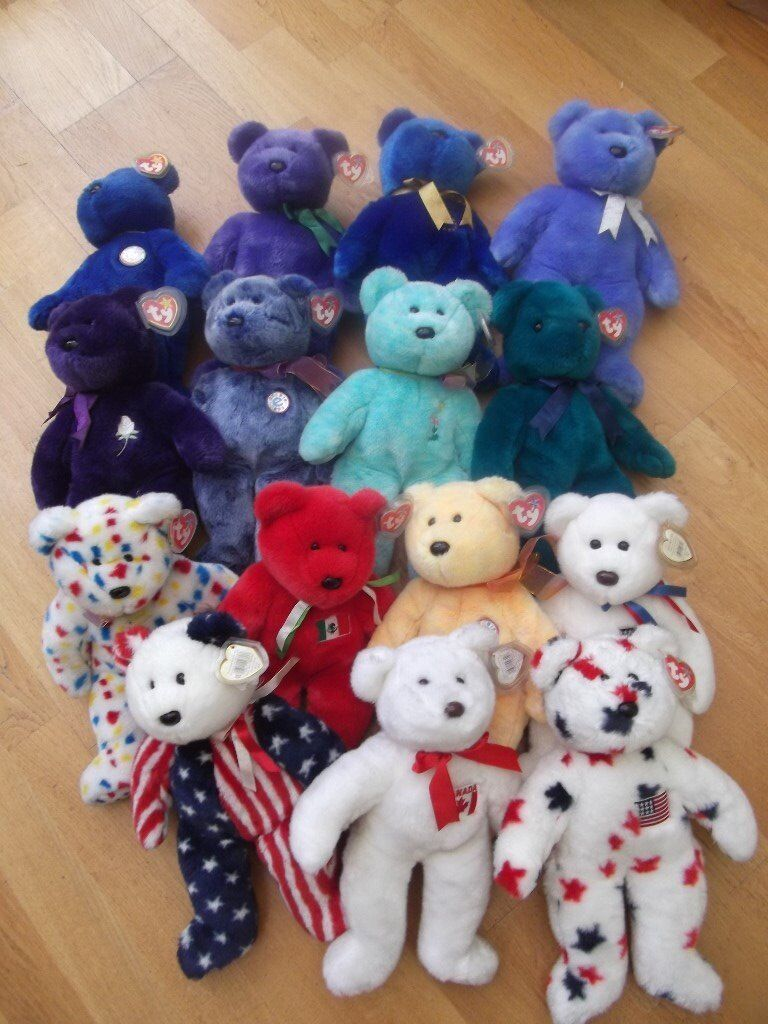 a658598314a Vintage collectible Ty Beanie Buddy large bear - choose from set of 15 - all  in top condition