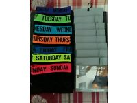 Mens Boxers Size Large Monday to Friday