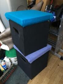Kids storage boxes seats £15 each or £20 for two