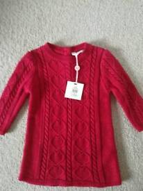 3-6 months red glittery dress
