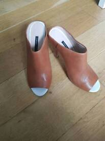 size 6 (39) tan shoes French connection
