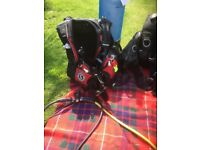 Two sets of scuba gear fully tested and in date