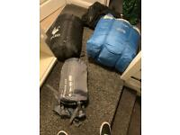 Two double and one single sleeping bags