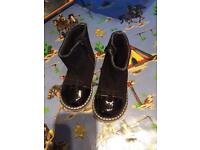Girls leather boots 12-18 months