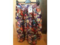 Multi Coloured City Print Skirt, Size 12 - NEW