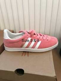 ADIDAS GAZELLES BOOTS AND SANDALS