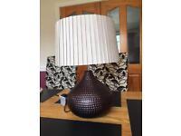 Brown ceramic lamp