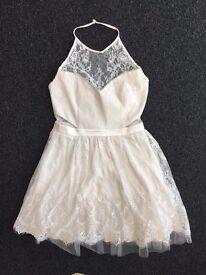 Ariana Grande for Lipsy Dress   Size 10   White Lace Party Prom Dress