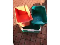 STORAGE BOXES X3 £2 THE LOT