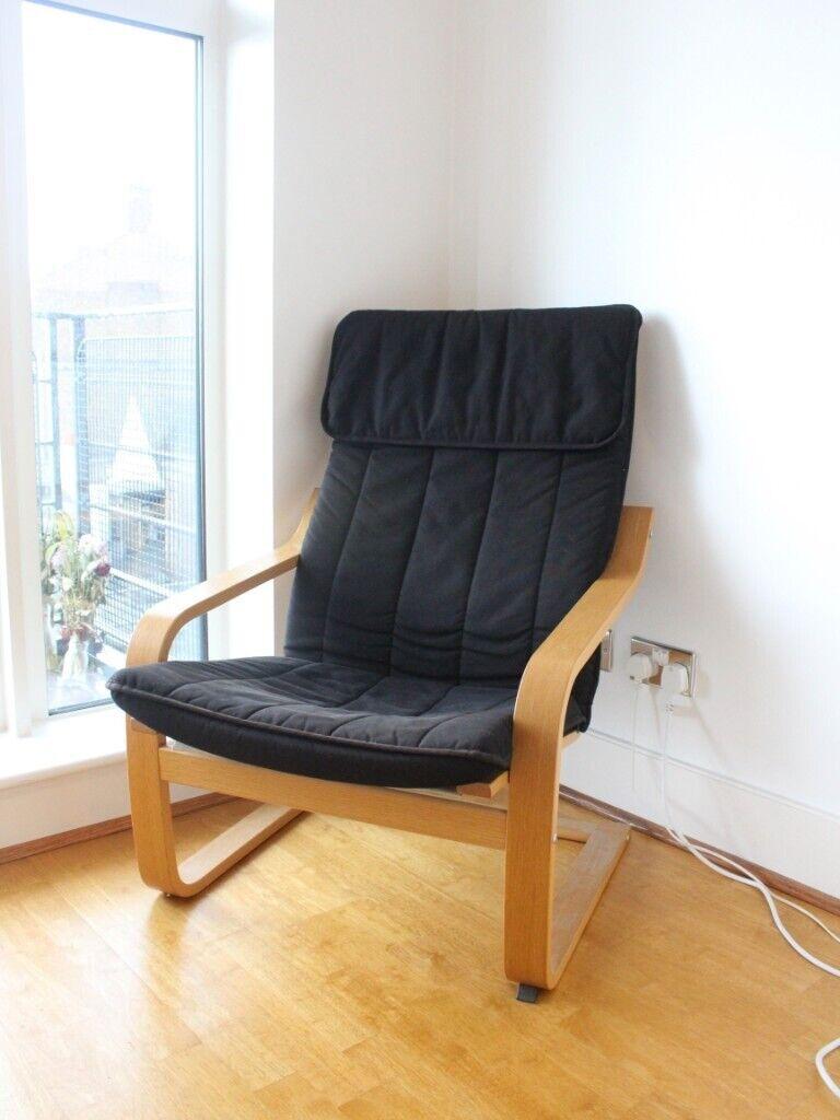 IKEA POÄNG arm chair Black   in Kingston, London   Gumtree
