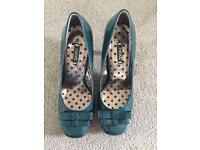 NEXT teal patent court shoes (4 1/2)