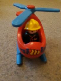 Playmobil helicopter 123.