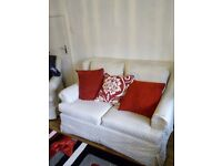 Two seater sofas with chair