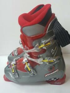 Race Atomic Titanium DH Ski Boots, 317mm Grey, Red (SKU JZCCUD)