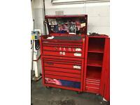 Snap on tool box and side caddy.