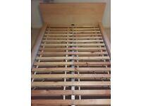 Ikea Malm Double Bed frame (Birch colour) VGC