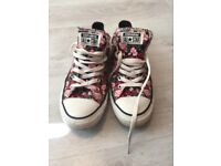Womens floral converse