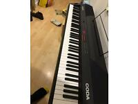 Full piano keyboard: Alesis 'Coda' with three pedals stand including the paper whole package