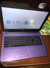 HP Notebook Laptop Purple