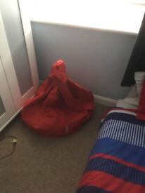 Red beanbag,, large