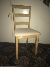 4 Light Oak Dining room chairs in excellent condition.