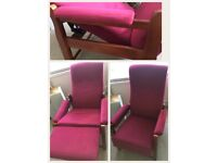 Retro reclining arm chair, excellent condition, bought for relative for Xmas and now taking up space