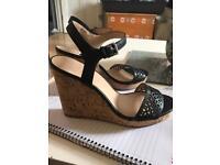Cork wedged heel size 6 New