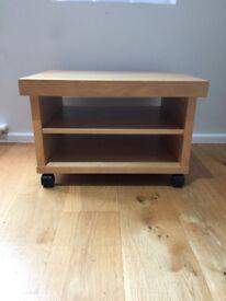 IKEA Oppli TV stand, oak effect, with castors