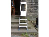 2 Heavy duty ladders made by zarges
