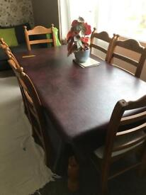 Family size dining table